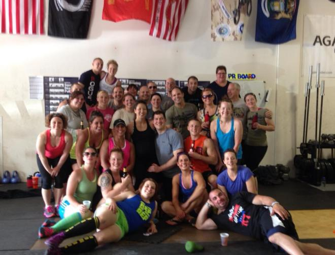 Not everyone is pictured since this was taken a couple of hours after the WOD.