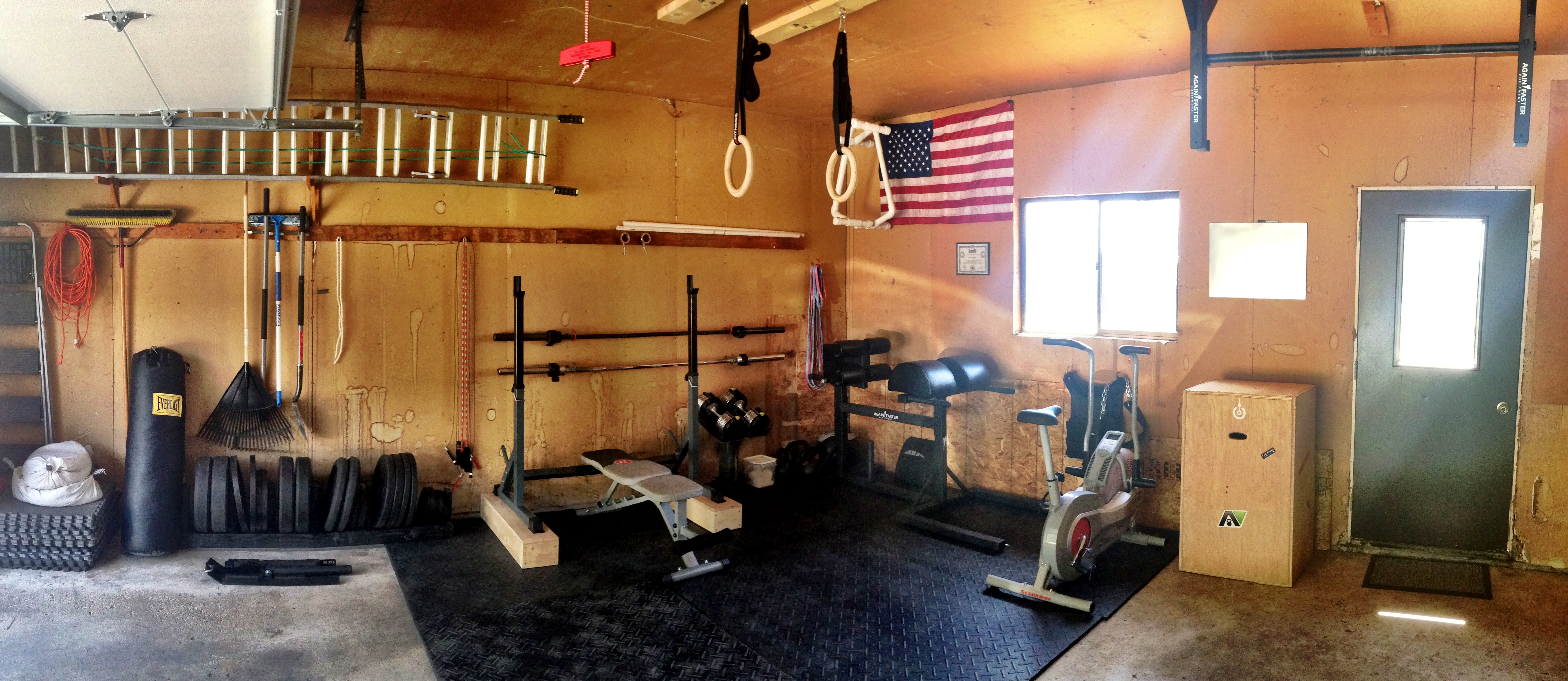 Version of the garage gym nick momrik s crossfit training