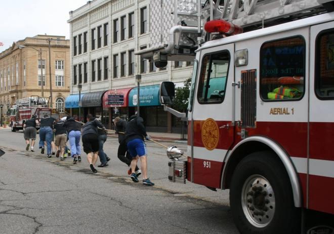Pulling a Fire Truck